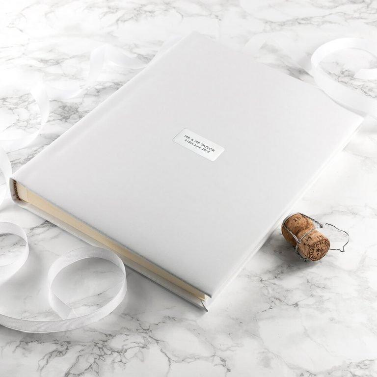 Personalised White Leather Photo Album (Embossed)