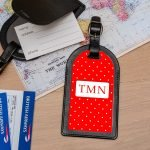 Personalised Leather Luggage Tag – Initials (3 Colours)