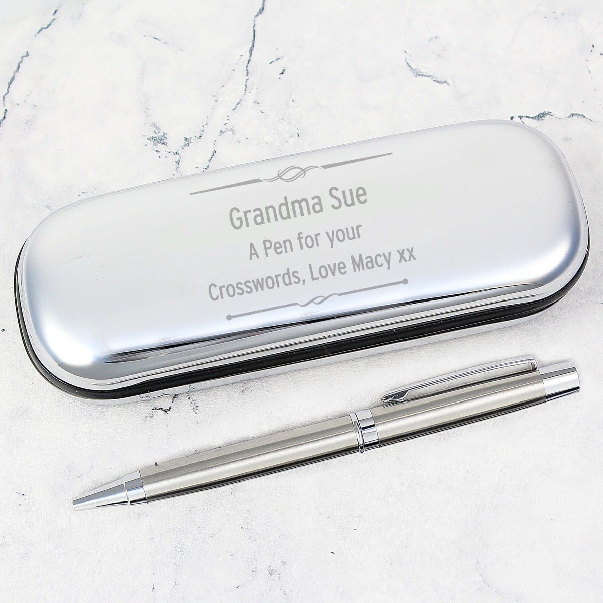 Personalised Scroll Pen and Box Set