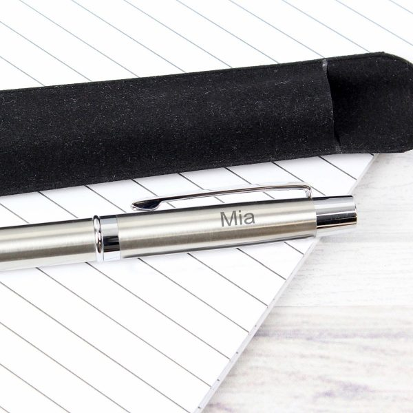 Personalised Classic Pen and Pouch Set