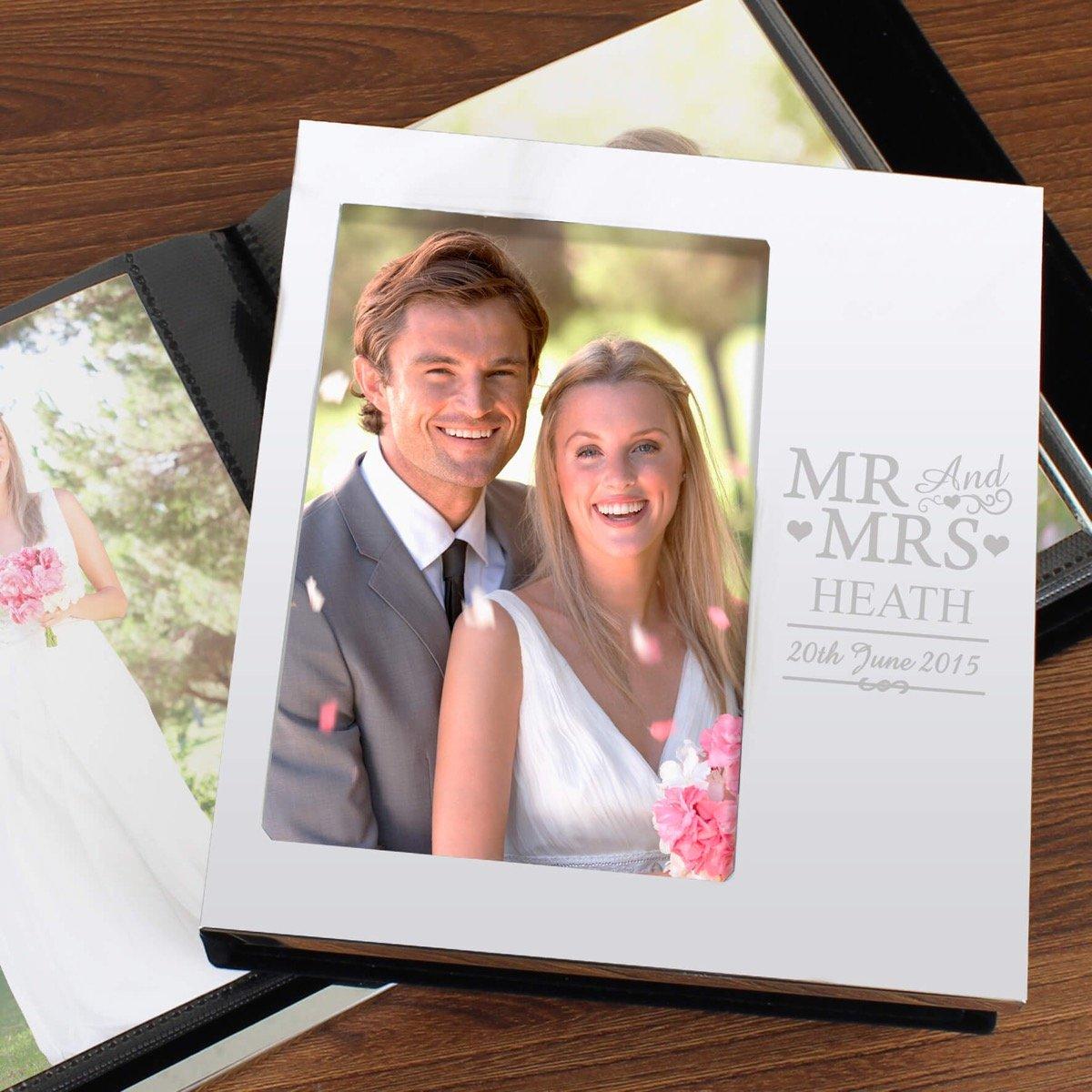 Personalised Mr & Mrs Photo Frame Album 6×4