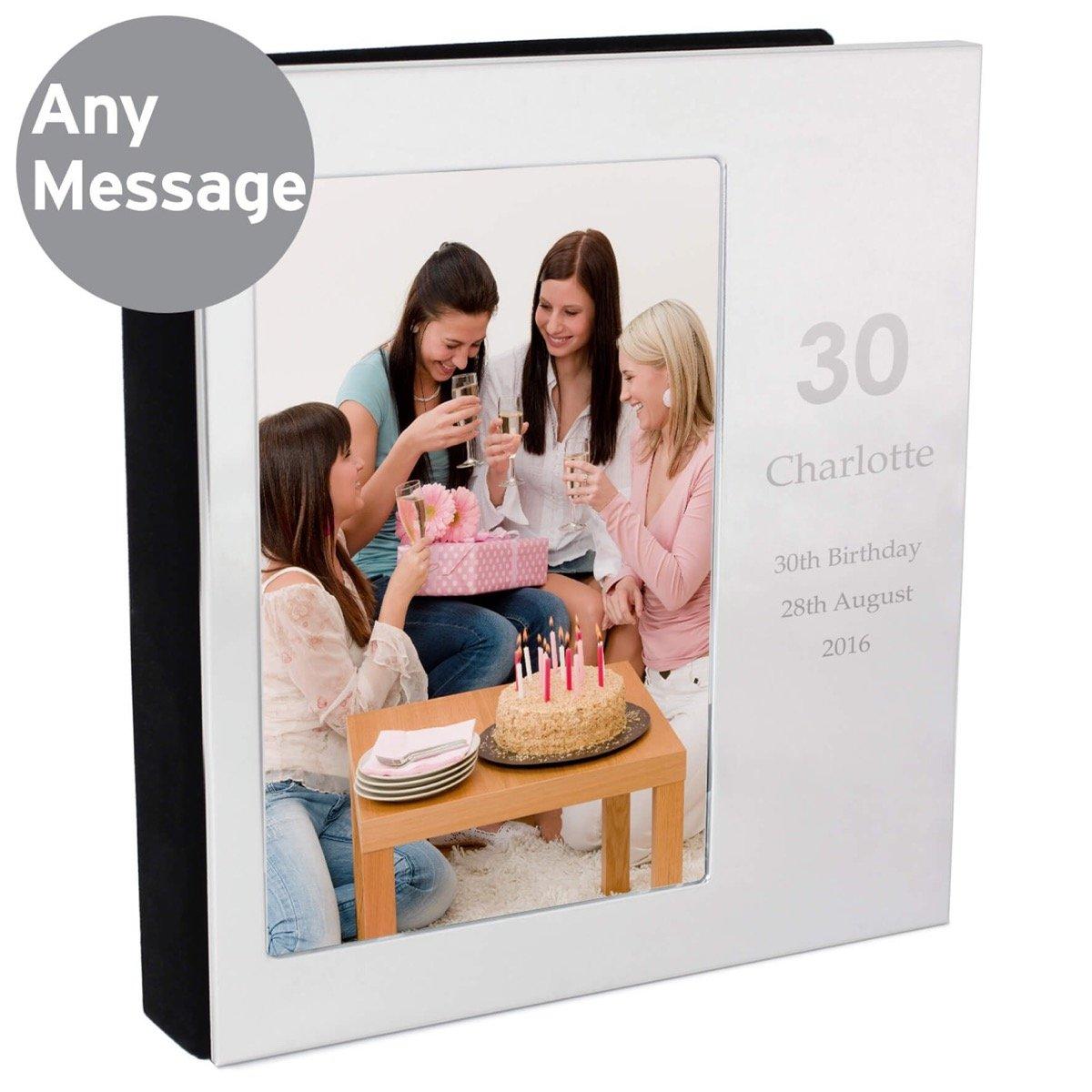 Personalised Big Numbers 6×4 Photo Frame Album