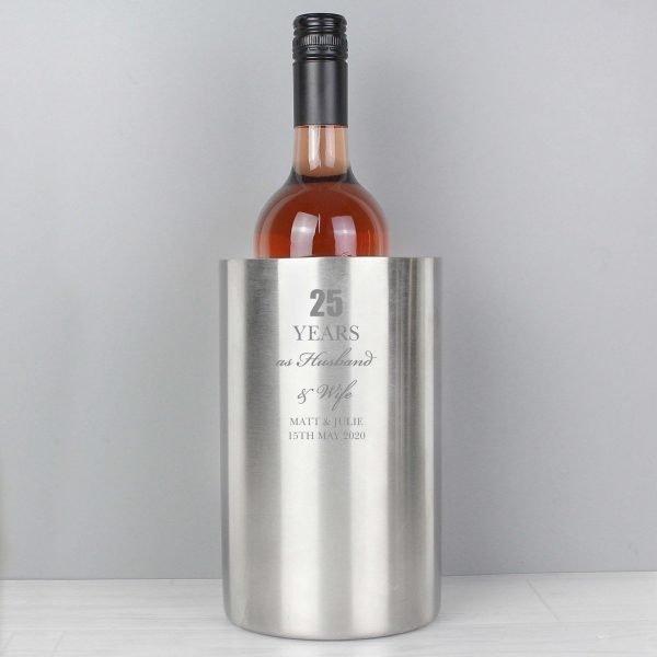 Personalised Anniversary Wine Cooler