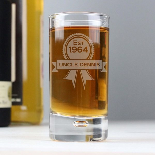 Personalised Established Rosette Bubble Shot Glass