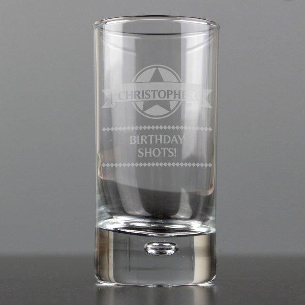 Personalised Diamond Bubble Shot Glass