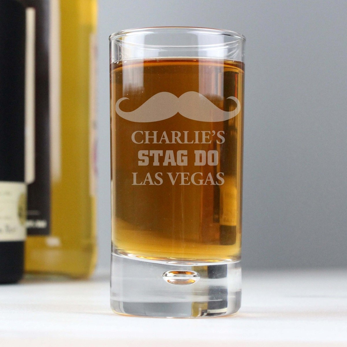 Personalised Moustache Bubble Shot Glass
