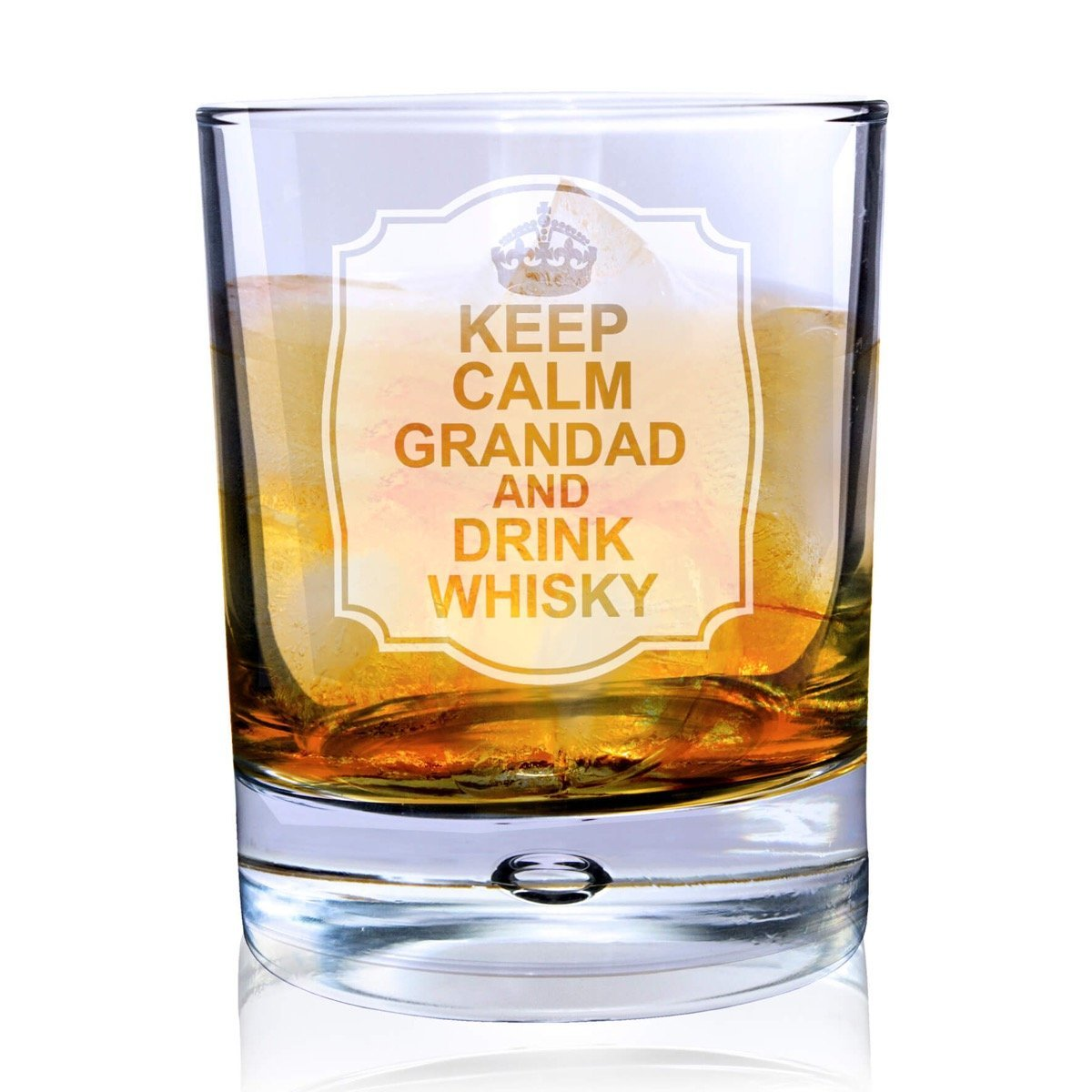 Personalised Keep Calm Tumbler Bubble Glass