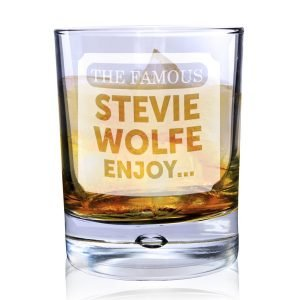 Personalised The Famous… Tumbler Bubble Glass