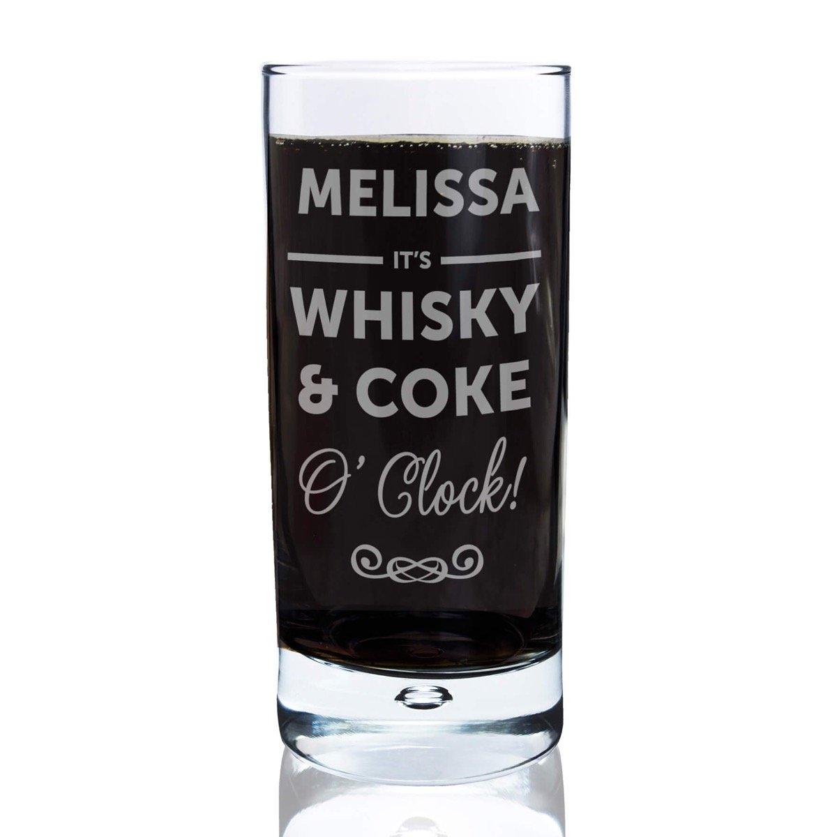 Personalised Its…O'Clock Hi Ball Bubble Glass