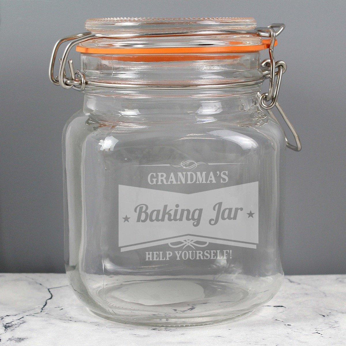 Personalised Retro Label Glass Kilner Jar