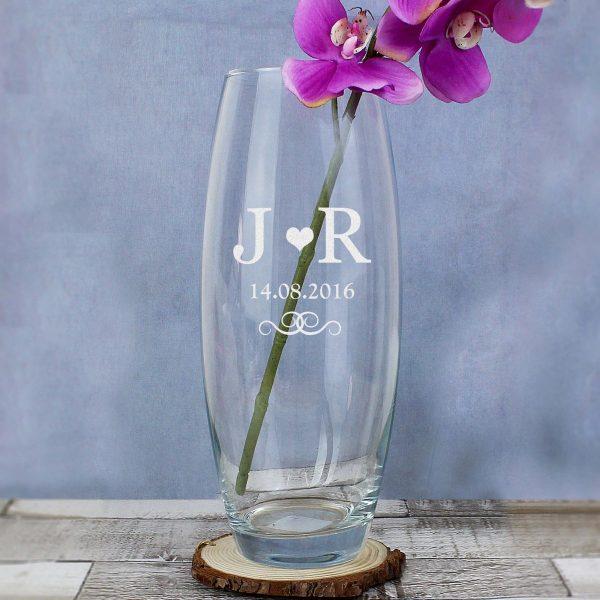 Personalised Monogram Bullet Vase