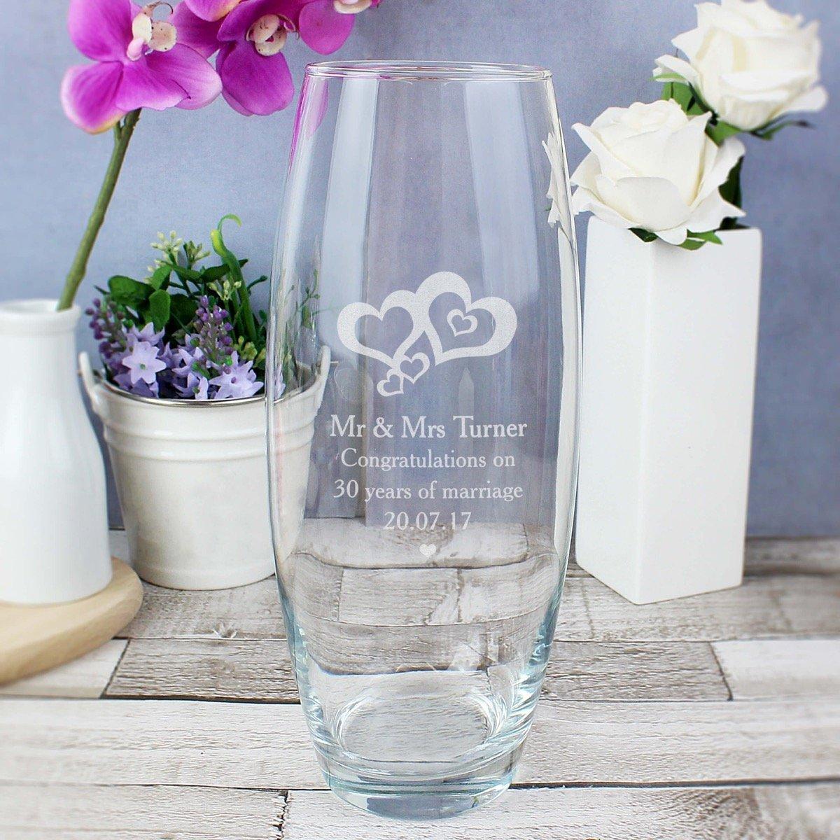 Personalised Love Hearts Bullet Vase