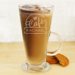 Personalised Cafe Latte Glass