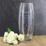 Personalised Hearts & Swirls Bullet Vase