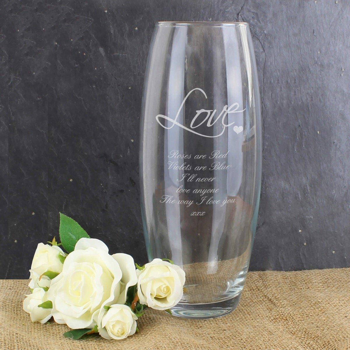 Personalised Love Bullet Vase