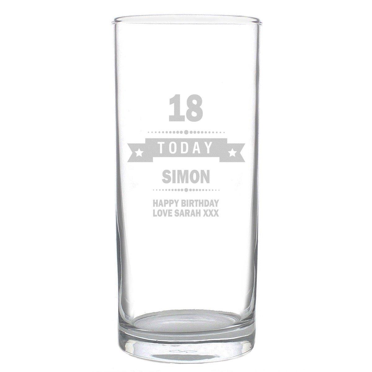 Personalised Birthday Star Hi Ball Glass