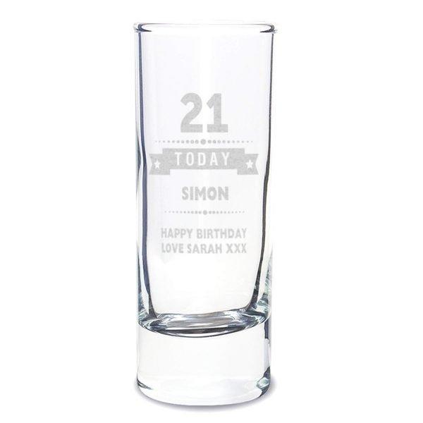 Personalised Birthday Star Shot Glass