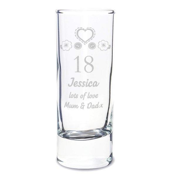 Personalised Birthday Craft Shot Glass Engraved
