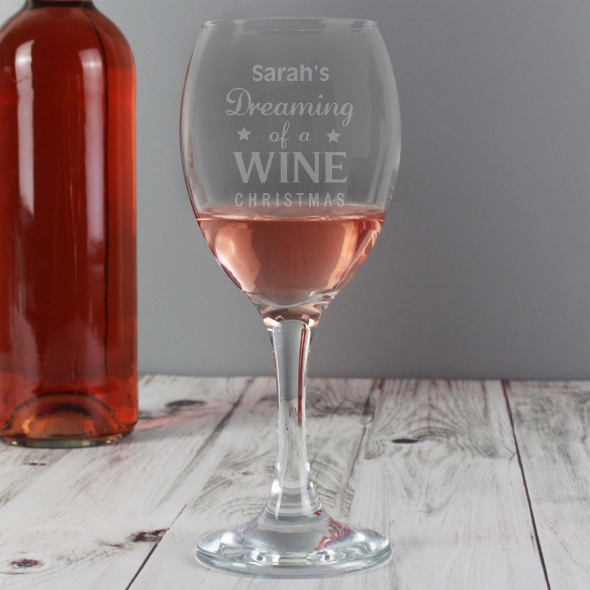Personalised Dreaming of a Wine Christmas… Wine Glass