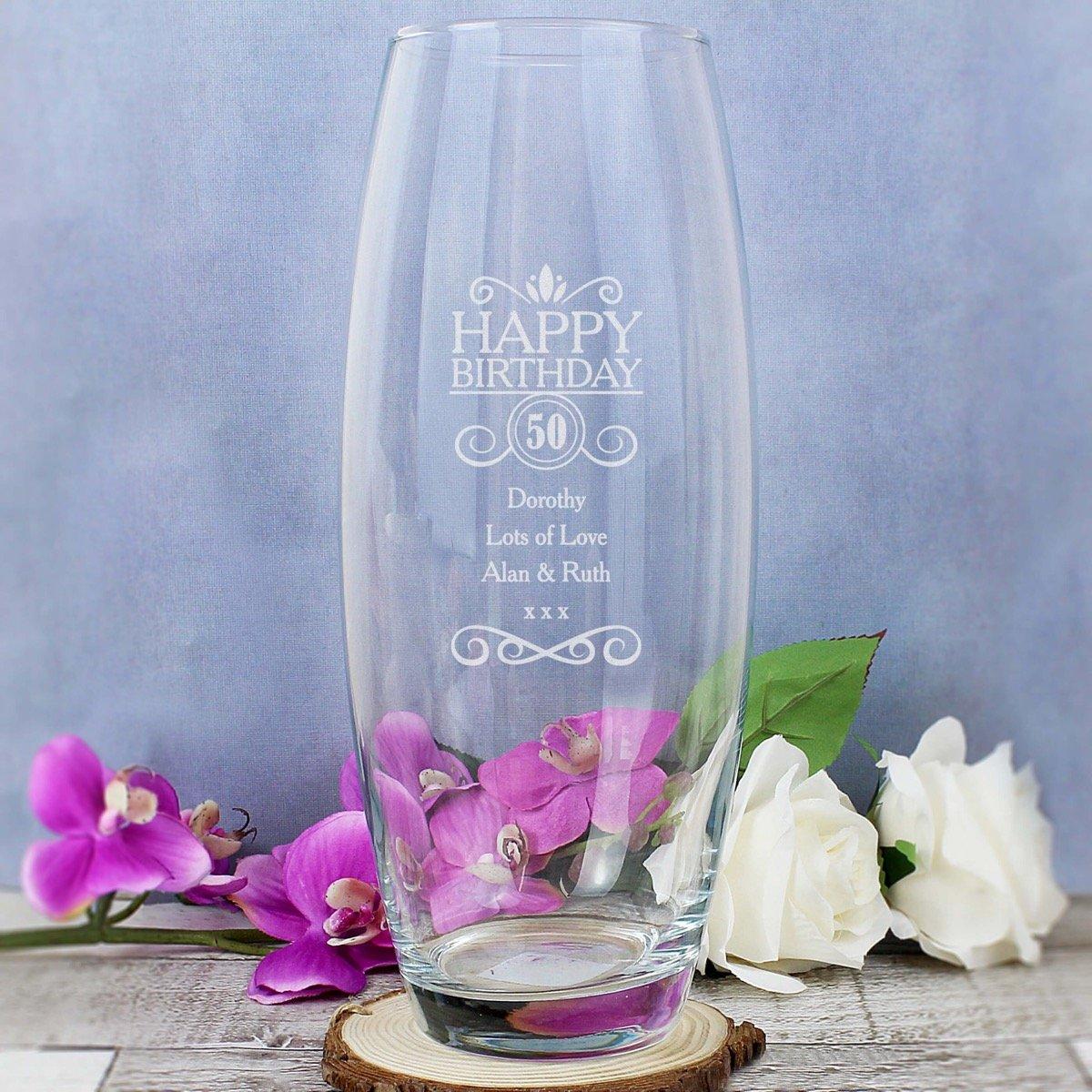 Personalised Birthday Bullet Vase