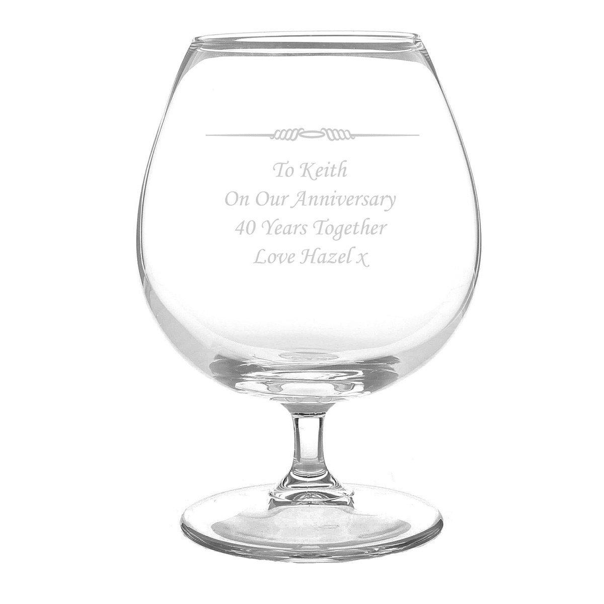 Personalised Decorative Brandy Glass