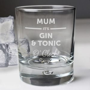 Personalised Its… O'clock Tumbler Bubble Glass