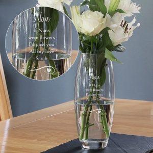 Personalised Swirls & Hearts Bullet Vase