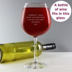Personalised Bold Statement Bottle of Wine Glass
