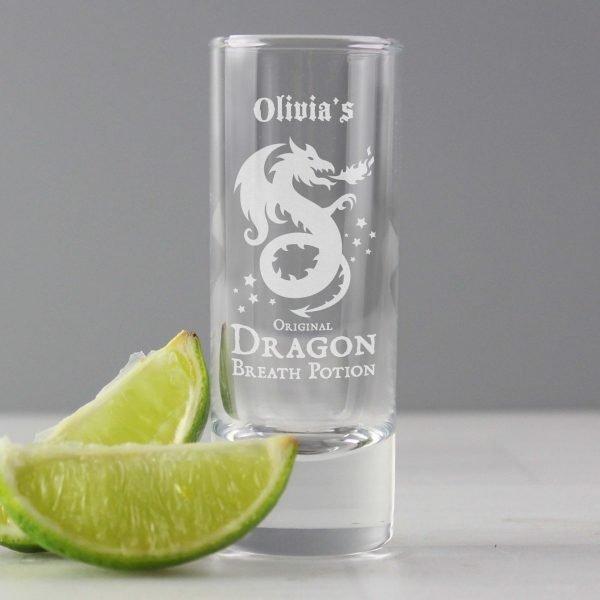Personalised Dragon Breath Potion Shot Glass