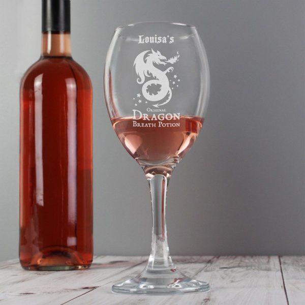 Personalised Dragon Breath Potion Wine Glass