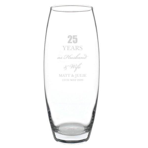 Personalised Anniversary Bullet Vase