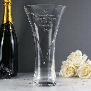 Personalised Swarovski® Hand Cut Vase