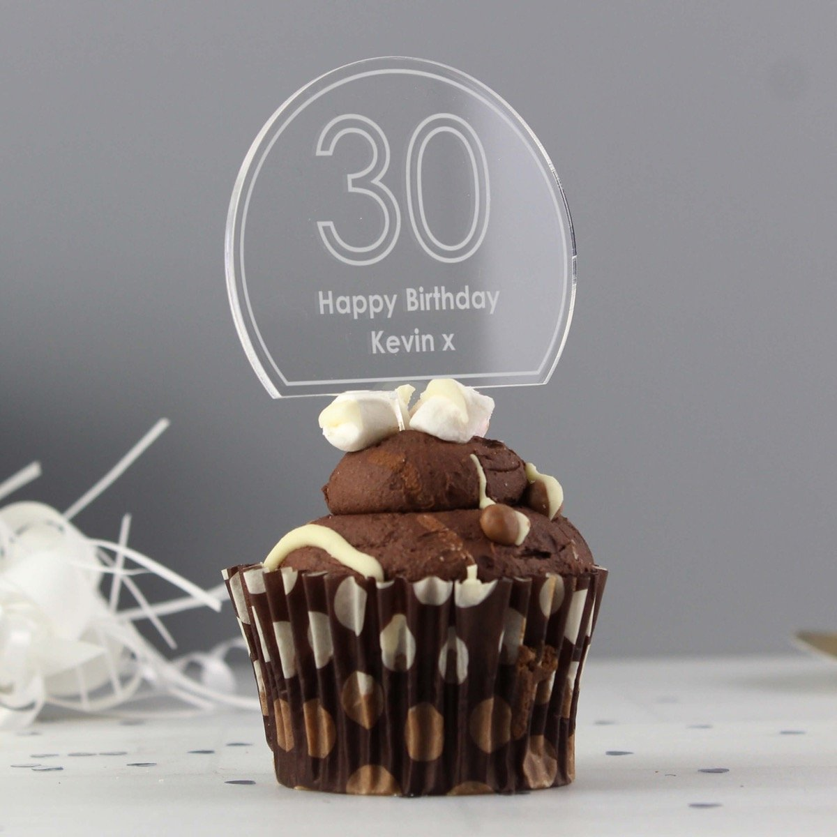 Personalised Contemporary Age Cake Topper