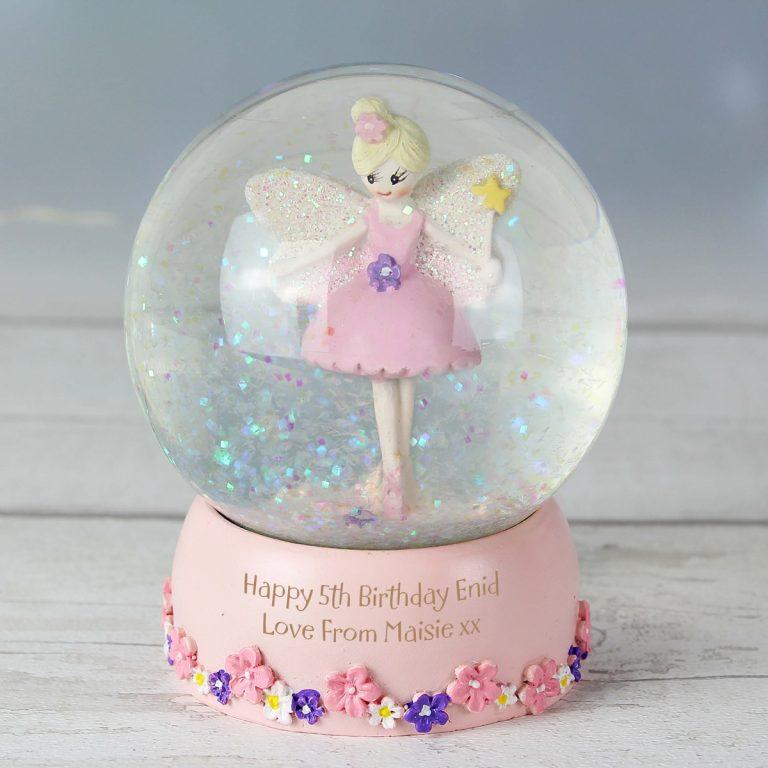 Personalised Fairy Glitter Snow Globe