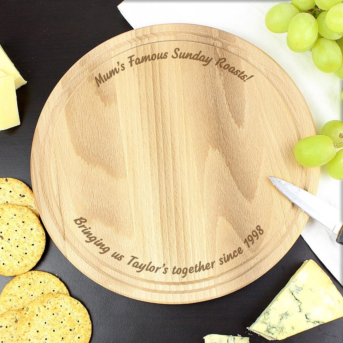 Personalised Plain Round Chopping Board