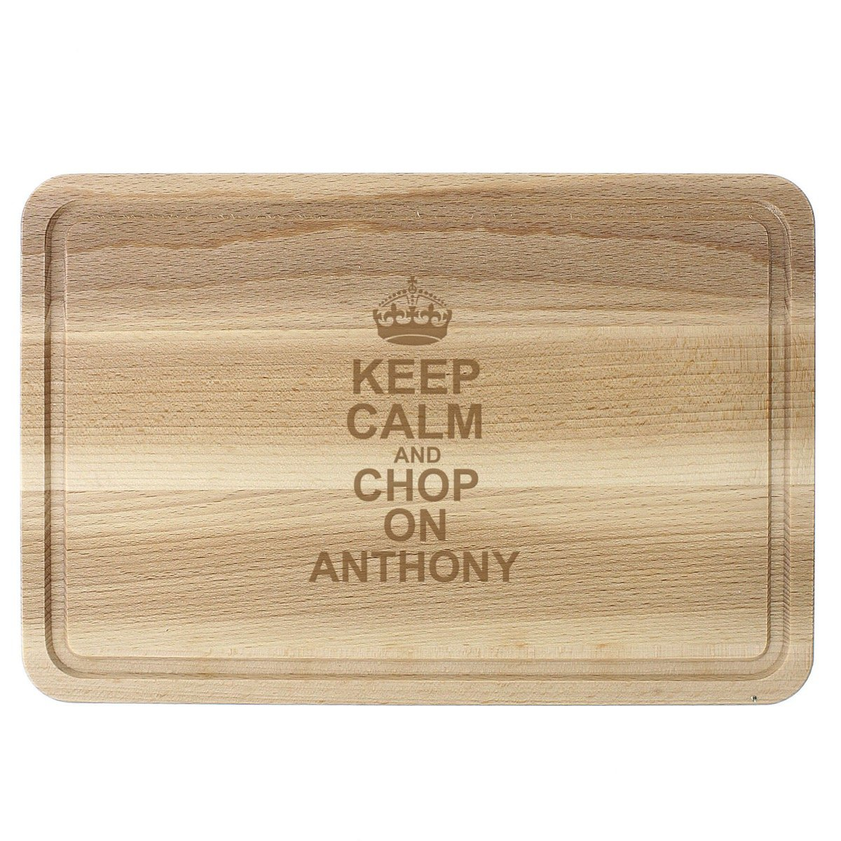 Personalised Keep Calm & Chop On Large Chopping Board