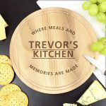 Personalised 'Meals and Memories' Round Chopping Board