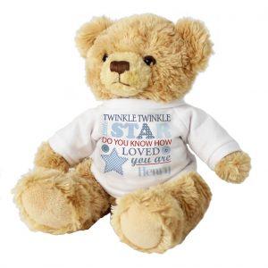 Personalised Twinkle Boys Teddy Bear