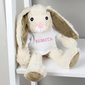 Personalised Name Only Bunny Rabbit – Pink Embroidery