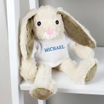 Personalised Name Only Bunny Rabbit – Blue Embroidery