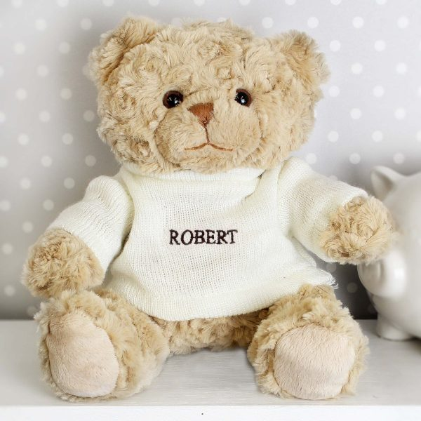 Personalised Name Only Teddy Bear  – Brown Embroidery