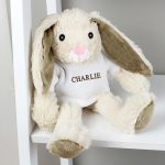 Personalised Name Only Bunny Rabbit – Brown Embroidery