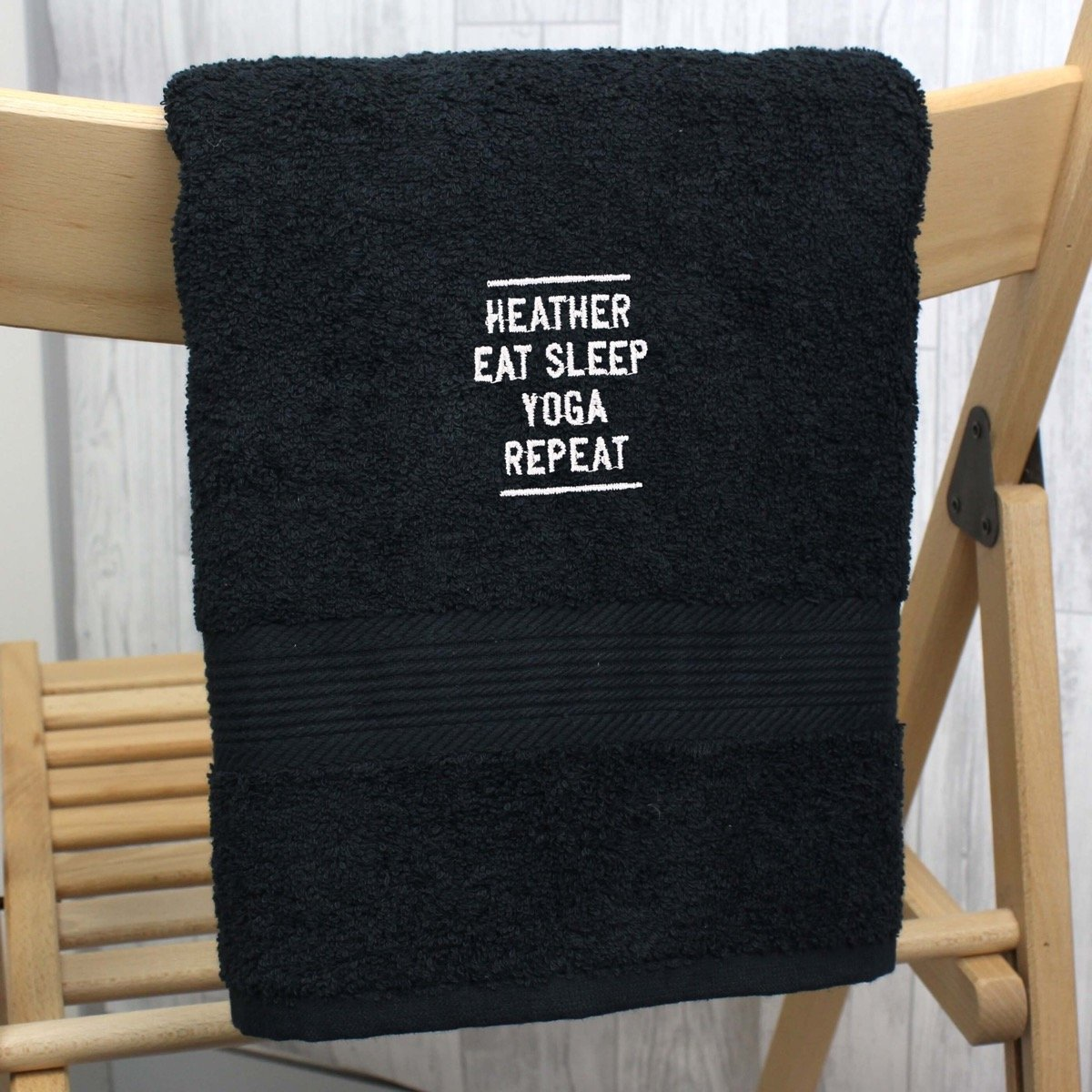 Personalised Black Hand Towel