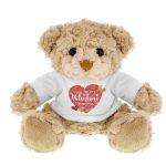 Personalised Valentine's Day Confetti Hearts Teddy Bear
