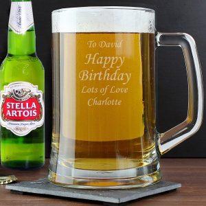 Personalised Stern Tankard & Beer Set