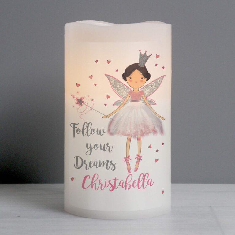 Personalised Fairy Princess Nightlight LED  Candle