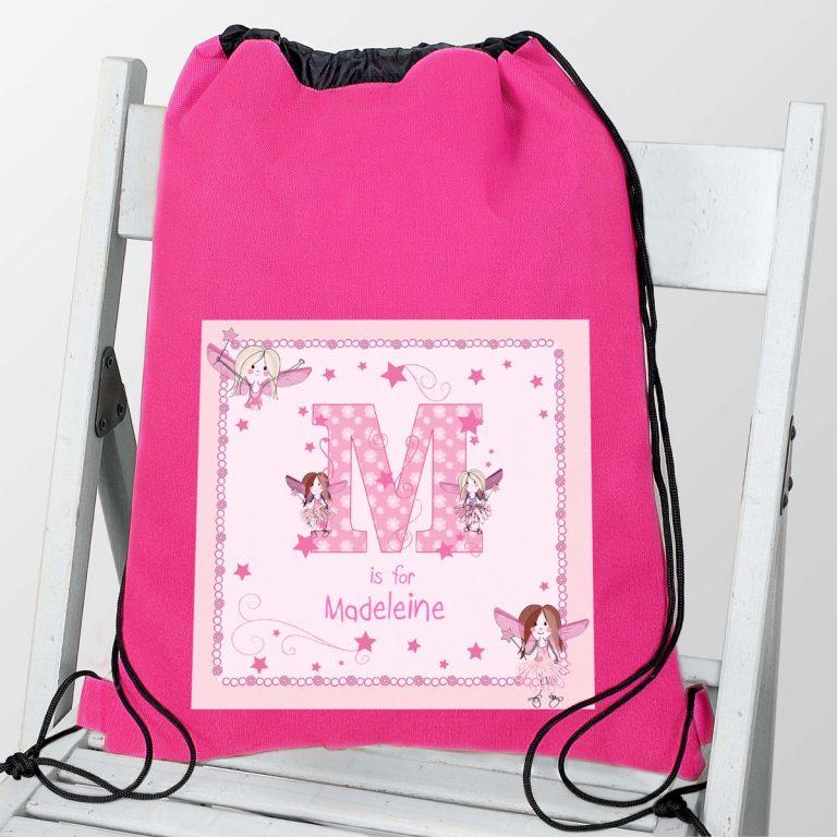 Personalised Fairy Letter Swim & Kit Bag