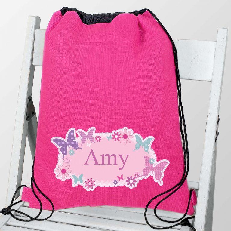 Personalised Butterfly Swim & Kit Bag