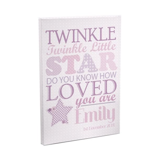 Personalised Twinkle Girls Canvas