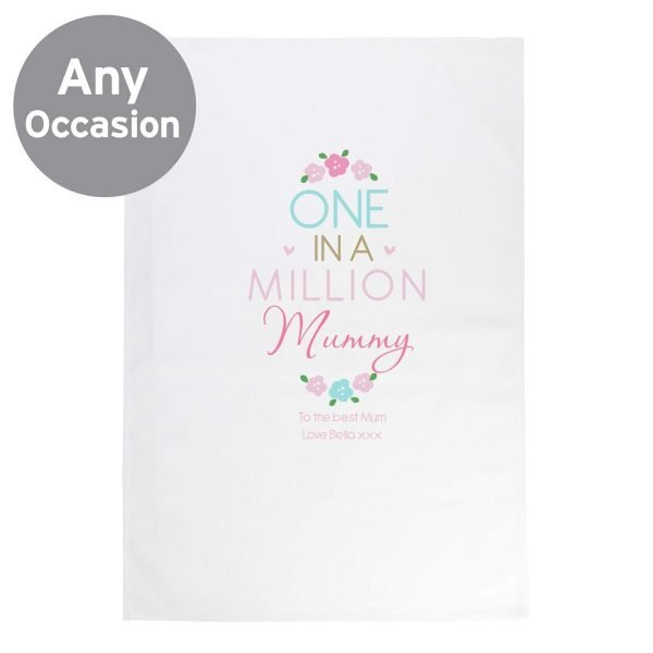 Personalised One in a Million White  Tea Towel